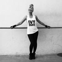 белые футболки без рукавов оптовых-Womens Vests Summer Sleeveless Crew Neck T-Shirts Vest Beyonce IVY PARK Letter Print Vests Woman Casual GYM White Tops Tees