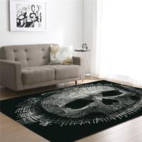 3D Skull Printed Black Carpets for Living Room Bed Room Grandi tappeti  rettangolari per esterni Tappeti per esterni Tappeti Home Decor