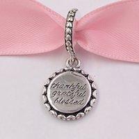 colares abençoados venda por atacado-Authentic 925 Sterling Silver Beads grato, Bendito encantos Dangle charme único estilo europeu jóia de Pandora Colar Pulseiras