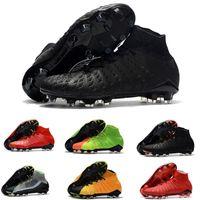 zapatos de fútbol de interior acc al por mayor-Nuevo Original Alta botines de fútbol Botines de fútbol Hypervenom Phantom Iii Df Fg Acc. Botines de fútbol Hypervenomx Proximo Tf Ag Indoor Soccer Shoes Turf