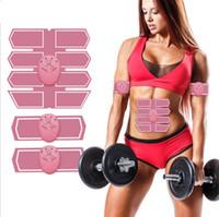 ingrosso massaggio del corpo che modella-Smart Fitness Elettrico EMS stimolatore muscolare ABS addominale Toner muscolare Body Fitness modellante Patch Patch Siliming Trainer ginnico Unisex
