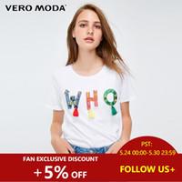 bordado de cuentas camiseta al por mayor-Camiseta con adornos bordados de abalorios estilo carta nacional   318301518