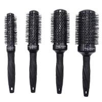 conjuntos de secador de pelo al por mayor-4 unids / set 4 Tamaños de Peluquero de Cerámica Peine Redondo para Peluquería Blowing Nano Aluminum Ionic Round Curly Brush Brush Drying Curling 1249