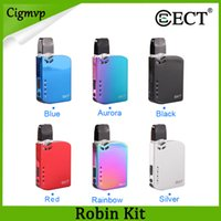 Wholesale all in one for sale - Group buy 100 Authentic ECT ROBIN POD DEVICE Kit mah Battery Pods System All in One Vape Kits For COCO Thick Oil Ceramic Coil Tank Cartridge
