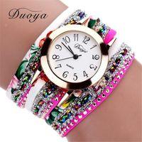 beliebte armbanduhren großhandel-Armbanduhr Neue Uhren Frauen Blume Beliebte Quarz Armbanduhren Kleid Damen Edelstein Geschenk Uhr Relogio 2019