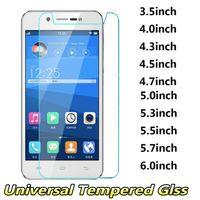iphone 4.7 5.5 ekran koruyucusu toptan satış-Evrensel Temperli Cam Telefon Ekran Koruyucu 3.5 4.0 4.3 4.5 4.7 5.0 5.0 5.3 5.5 5.7 6.0 inç iphone samsung için huawei xiaomi zte lg sony