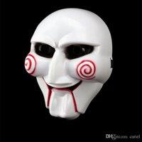 маски для лица с полным лицом оптовых-Cariel Cariel 50PC маска партии ужасна маска Halloween на террористе увидела бензопилу убийцы Volto маски анфас для взрослых h25b