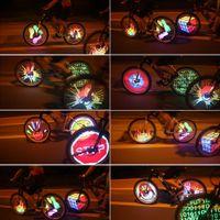 programmierbare led-bildschirme großhandel-30 stücke YQ8003 128 LED DIY Fahrrad Licht Programmierbare Fahrrad Rad Speichen Licht Motor Reifen Lampe Display Bild Für Nacht