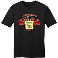 Wholesale germany t shirts online – design Custom Printed T Shirts Crew Neck Short Germany Pride German Motto Deutschland Design Mens T Shirts