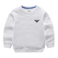 hoodies da forma para meninas da criança venda por atacado-Novos Meninos e Meninas Carta Com Capuz 100% Algodão Camisa de Manga Longa Moda Engrossar Camisola Ocasional Com Capuz Camisa das Crianças