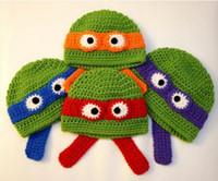 feito à medida crochet venda por atacado-Bebê Crochet Knit Cap Inverno Beanie Projeto Animal Crianças Halloween Natal Menino Menina Bebê Recém-nascido Criança Algodão Feitos Sob Encomenda Ordem Da Mistura