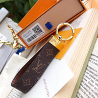 Wholesale brand gift bags for sale - Group buy Luxury Keychain high qualtiy leather Key Chain Key Ring Holder Brand designer key chain Porte Clef Gift Men Women Car Bag Keychains