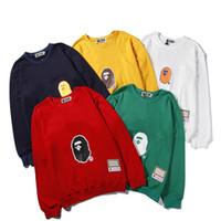 Wholesale xxl hoodies hip hop for sale – custom Bape Hoodie Hip Hop Sweatshirts Men Women Designer Hoodies Mens High Quality Long Sleeve Mens Designer Hoodie Jacket M XXL