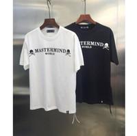 t shirts japan achat en gros de-2019 été Style Mastermind Japon Classique Logo Imprimé Femmes Hommes Grand Crâne T-shirts T-shirts Hiphop Hommes Coton À Manches Courtes T-shirt