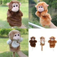 macacos família venda por atacado-1 Pc Bonito Macaco Mão Fantoche de Mão Papel Família Pretend Jogar Brinquedo Do Bebê Crianças Macio Plush Puppets Brinquedos Crianças Presentes de Aniversário de Natal