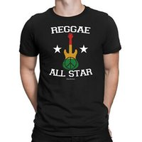 звездные гитары оптовых-Мужская футболка REGGAE ALL STAR Peace Rasta Гитарный барабан Ямайская танцевальная музыка Новинка