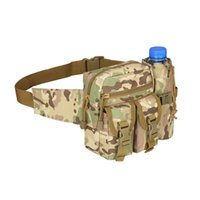 su geçirmez bel çantası çantası toptan satış-Açık Taktik Omuz Çantası Su Geçirmez Oxford Molle Kamp Yürüyüş Kılıfı Su Isıtıcısı Çantası Avcılık Bel Paketi