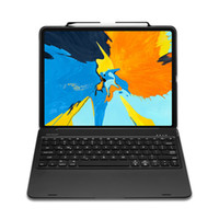ipad de bluetooth de teclado de caixa de tabuleiro venda por atacado-DUX DUCIS Flip Caso Teclado Sem Fio para iPad Pro 12.9 polegada Tablet Capa Teclado Bluetooth para iPad Mini 2019 / iPad mini4 / 5