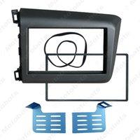 honda civic monte achat en gros de-2-Din voiture CD / DVD fascia Cadre pour HONDA Civic (LHD) 2011-2013 Panel Dash Radio Cadre Adaptateur de montage Kit de montage garniture # 4936