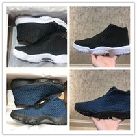 Wholesale best shoes for christmas resale online - 2019 Best New Jumpman XI Black Blue Knitting Breathable Basketball Shoes For Mens Good Quality Trainers Sports Sneakers Size