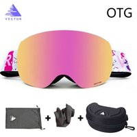 Wholesale double lens ski goggles for sale - Group buy OTG Ski Goggles With Case Snow Glasses Anti fog Coatings Interchangeable Double layered Spherical Lenses Sunglasses Snowboard