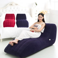 Wholesale inflatable sex beds resale online - Sexy Products Inflatable Sex Sofa Love Chair Bed Home Sex Furniture Lovers Passion Love Chaise Floor Sofa for Couples E3
