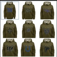 Wholesale Men Atlanta Falcons Chicago Bears Indianapolis Colts New Orleans Saints Salute to Service Sideline Therma Performance Pullover Hoodie