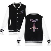 liebe uniformen großhandel-BTS Kpop Beiläufige Baseballuniform Frauen K-pop Weibliche Liebe dich Fans Kleidung bts Hip Hop heiße Verkäufe Harajuku Kleidung Baseball