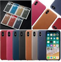 apfelkoffer offiziell großhandel-PU ledertasche für apple iphone xs max xr x 8 plus 7 6 6 s 5 original offiziellen stil zurück abdeckung haut mit kleinkasten 1 stück