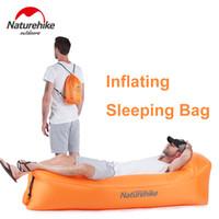 tasarım uyku tulumu toptan satış-Şişme Lounger Hava Yastığı Şişme arka bahçe Lakeside Beach Seyahat Camping Tasarım İdeal Leaking Çanta Anti-Air Sleeping