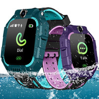 Wholesale sos smart watch for kids online – Q19 Smart Watch Wateproof Kids Smart Watch LBS Tracker Smartwatches SIM Card Slot with Camera SOS for Universal Smartphones in Box