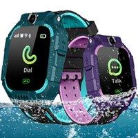 smartwatches iphone оптовых-Q19 Smart Watch Wateproof Детские умные часы LBS Tracker Умные часы Слот для SIM-карты с камерой SOS для Android iPhone Смартфоны в коробке