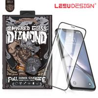 volle 3d spiele großhandel-LEEU DESIGN 3D gebogener Full Cover Anti Staub Spiel Spieler temperiertes Glas Displayschutzfolie für iPhone 7 8 plus x xs xr xs max 11 2019