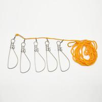 нержавеющая сталь оптовых-Hot Sale 5M Buckle Stainless Steel Live Fish Lock Belt Stringer Fishing Tackle