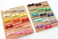 ingrosso regali arcobaleno per i bambini-Feltro Bow RainBow Fasce Neonato Feltro Archi Neonato Tiny Bow Neonata Fasce per capelli Accessori per capelli Regalo per bambini