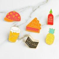 Wholesale vintage hat pins resale online - Japanese Korean Style Vintage Brooch for Girl Hat Pineapple Cake Book Badge Hard Enamel Pins Collection Decor Bag Jacket Denim Hat Accessory