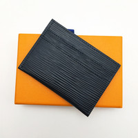 Classic Men Women Mini Small Wallet High Quality Credit Card Holder Slim Bank Card holder With Box Total 5 Card Slot