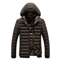 monte hoodies korece toptan satış-Kış parka adam ceket sonbahar palto hoodies rüzgar kesici aşağı ceketler kalın sıcak palto slim fit kore tarzı 2019