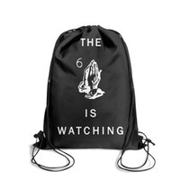 Wholesale women bow watches for sale - Group buy Drawstring Sports Backpack Drake melody Owl LP The is watching viewsvintage daily sack pouch Travel Fabric Backpack