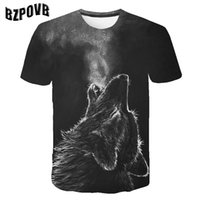 ingrosso maglia della donna del lupo-T-shirt lupo con stampa 3D T-shirt da uomo Donna Moda Aquila 3d T-shirt hip hop Stampa Animale Manica corta T-shirt estiva T-shirt Uomo 5XL