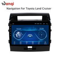 sistema de navegação toyota gps venda por atacado-10.1 polegada Android 8.1 Carro DVD GPS para Toyota land cruiser 2007-2012 Sistema de Navegação de Áudio Estéreo Rádio Vídeo Bluetooth