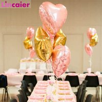 Wholesale star lights inch resale online - Lincaier inch Heart Star Foil Balloons Wedding Birthday Party Decorations Kids Boy Girl Baby Shower Table Supplies Adult
