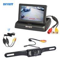 monitor reverso lcd venda por atacado-DIYKIT sem fio 4.3inch Car Inverter Kit Camera Back Up Monitor de carro LCD HD Car Câmara de visão traseira Parking System