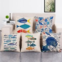 Awesome Colorful Fish Pillow Cases Decorative Cushion Covers For Sofa Seat Chair Car Home Decor Printed Waist Cushion Pillow Covers Machost Co Dining Chair Design Ideas Machostcouk