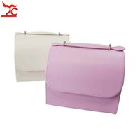 Wholesale vintage leather jewelry boxes for sale - Group buy Jewelry Box Vintage Jewelry Box for Girls Arched Lid Portable Travel Organizer Pink White