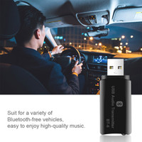 Wholesale wireless power transmitter resale online - USB Power in Bluetooth Car Kit mm AUX Wireless Audio Receiver Transmitter mm jack line in for Car Radio FM Mp3 Player