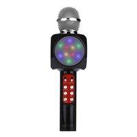 grabadora móvil bluetooth al por mayor-Excelvan micrófono inalámbrico Bluetooth del teléfono móvil Speake Micrófono Karaoke Mic reproductor de música canto KTV registrador