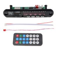 mp3 плэйс 12v оптовых-Q9A 12V Audio Board Автомобильный пульт радио AUX TF MP3-декодер Музыкальный динамик USB FM