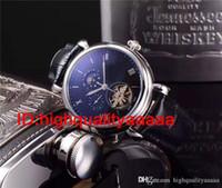 lua relógios mens venda por atacado-Flywheetourbillon homens relógio de ouro Complicações calendário perpétuo fase da lua automático preto esqueleto de discagem wristwatch homens vestido relógios