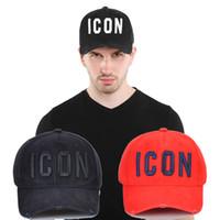 trendige baseballmützen großhandel-2019New d2 Luxury Embroidered ICON Baseball Cap Herren 3 Color Gorras Damen Hysteresenkappe Street Trendy Cool Hat